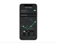 Order Tracking UI design (dark mode) design visual mobile brand ui tracking order