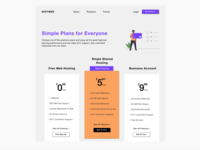 Software Pricing Website visual ui design website pricing software