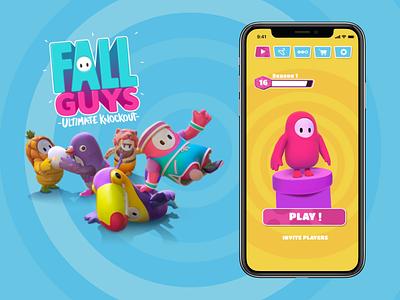 Fall Guys App photoshop fall guys illustrator gaming design app visual ui