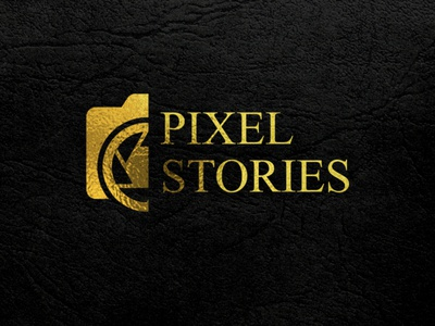 Pixel Stories Photography Logo icon photography logo illustration creative design business identity branding brand identity