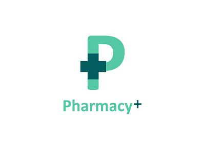 Pharmacy + Logo colorful typography logo vector business identity design branding illustration creative brand identity