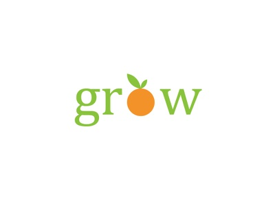 Grow Logo Design typography logo vector illustration design creative