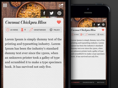 Share Button Animation food app iphone food app ui menu texture paper share share button social design