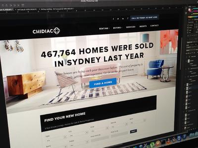 Property Search type headline website homepage search real estate website real estate top nav tyope