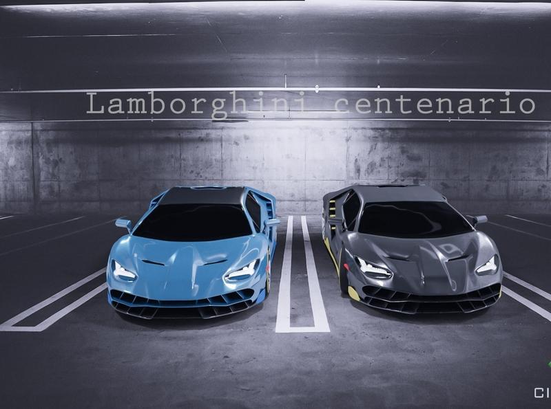 Automobile model, Lamborghini centenario design rendering supercars product design car cgart 3d artist 3d art blender3d