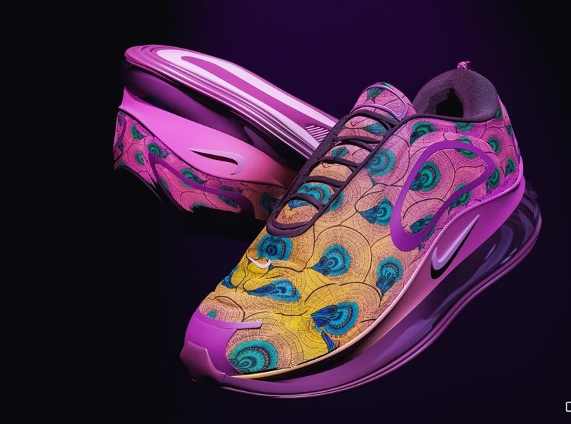 Ankara max ankara africa branding fashion shoes nike clean concept art product design hard surface modeling blender3d design 3d artist 3d 3d art