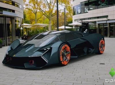 Lamborghini Terzo Millennio cgart animation supercar car rendering automation product design hard surface modeling blender blender3d 3d artist design 3d art
