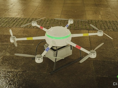 Parcel Drone tech drones 3d animation blender concept art cgart product design hard surface modeling design blender3d 3d artist 3d art