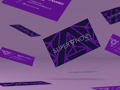 Super Nova Media Business Cards space galaxy business card business cards business card design businesscard design logo brandidentity branding