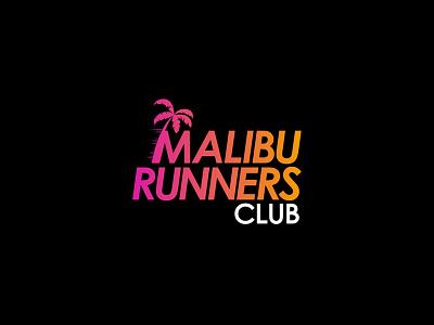 Malibu Runners Club Logo sport palm malibu club runing runner run logo design logodesign logotype logo branding brand