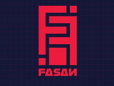 FASAN Logo brand design logos logo design logodesign logotype plaid grunge punk fashion brandidentity logo brand branding