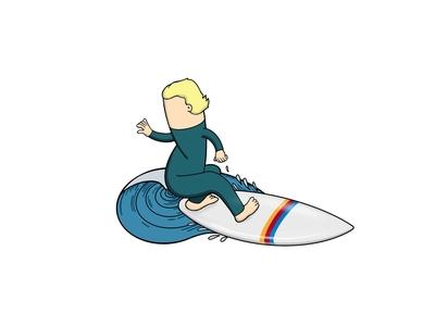 Don't forget to stretch vector animation logo branding surf illustration design