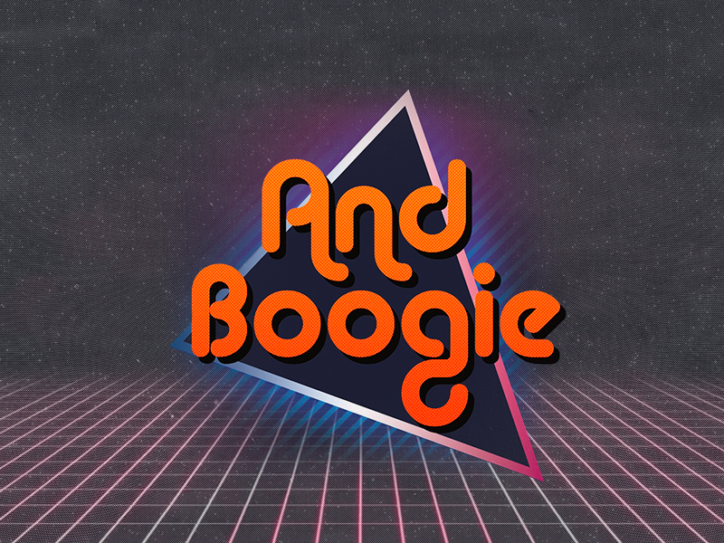 AndBoogie boogie and festival music andboogie tron neon outrun 80s retro