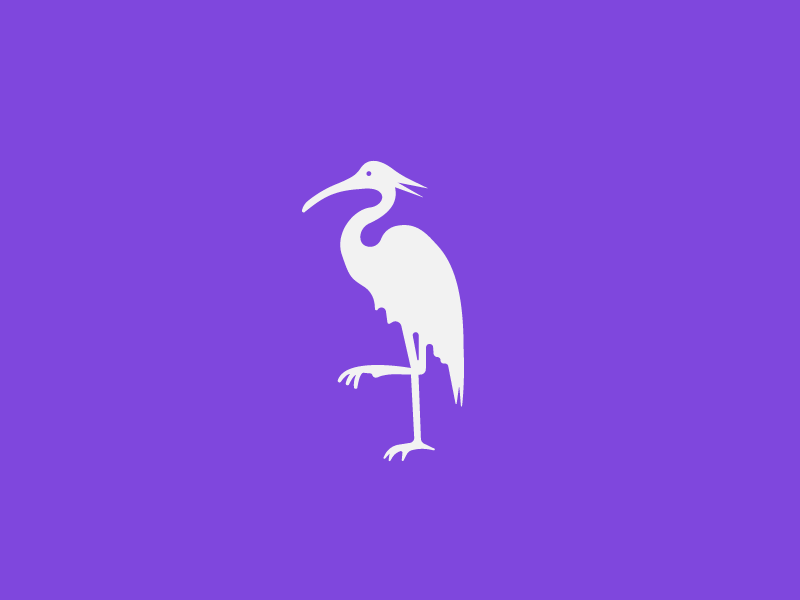 A Bird? A Plane? A Crane? misc logo bird flamingo royal purple crane