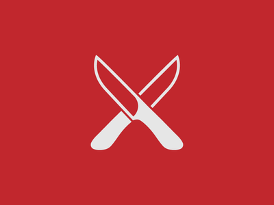 Knives jab stab symbol logo sharp knives knife cross