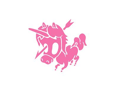 Cute Punk Unicorn creepy gruesome dead arrow cute punk unicorn
