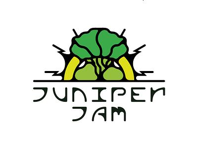 Juniper Jam  • • • green typography custom festival music jam juniper alligator tree branding logo