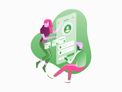 Floating Character Animation adobe illustrator quirky floating colorful playful abstract ux flat mograph motion after effects vector ui illustration phoenix fyresite animation 2d phone app