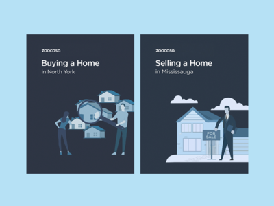 Buying and Selling whitepaper book cover for sale home tech real estate book clean vector illustration bright bold flat