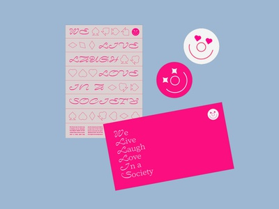 Society spade club heart deck of cards serif pink bright layout print materials print poster joker clown typography icon clean vector bold flat