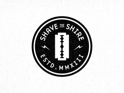 Shave the Shire razors badge crest lightning bolt