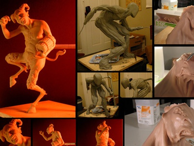 Maquettes sculpture mythology maquette clay monsters