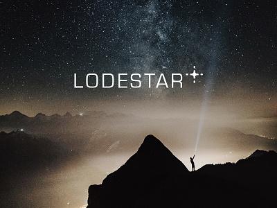 Lodestar wordmark flashlight identity logo branding consulting leadership stars