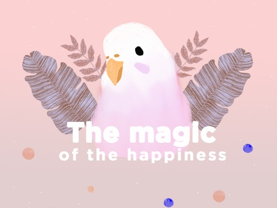 The magic of the happiness digital brushscript arte digital design illustraion brush pen photoshop