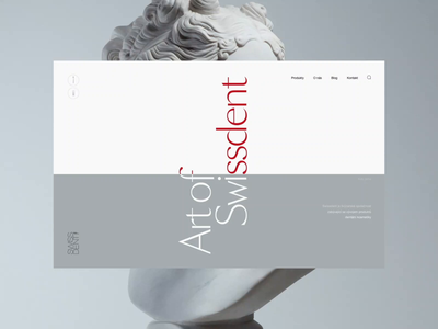 Art of Swissdent - Interactive ecommerce motion design ecommerce experience motion ui animation typography interactive minimal clean ux landing web website