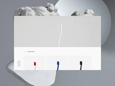 Art of Swissdent - Awwwards SOTD ecommerce ui design experience ui motion animation typography interactive minimal clean ux landing web website