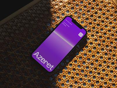 Azeret Microsite website web landing ux clean design minimal motion gradient color colour interactive type typography motion graphics graphic design animation ui