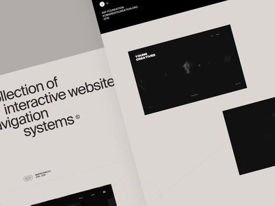 Interactive website navigation systems © 2016 – 2019 illustration landing menu slider layout animated animation typography motion interactive behance case study case website web