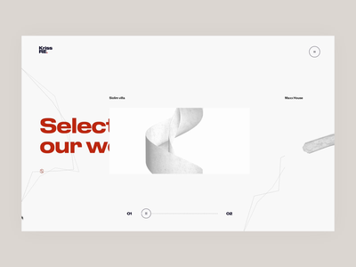 Interactive navigation systems ② – Kriss Re motion slider webgl 3d landing page landing webdesign website web ux ui animated animation interaction interactive menu navigation