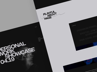 Portfolio '19 – Behance case interaction case study experience motion animated landing page homepage ui ux typography animation interactive minimal clean web website landingpage landing portfolio behance