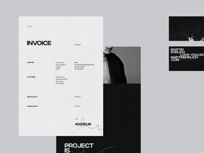 Portfolio '19 – Collaterals clean business card brand branding design typogaphy minimal illustration logo behance portfolio site portfolio invoice template invoice design invoice business card design business cards businesscard print design print