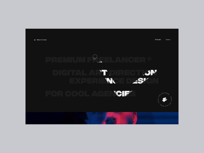 Portfolio '19 – About page homepage branding simple about us about page about app landing page experience motion ui typography animation interactive minimal clean ux landing web website