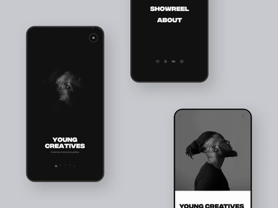 Portfolio '19 – Mobile Interactions interaction animated mobile app design mobile app responsive mobile app landing page experience motion ui typography animation interactive minimal clean ux landing web website
