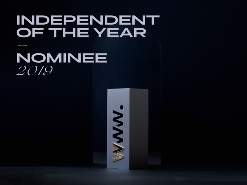 Nominated for Independent of the Year 3d dark typography minimal clean design awwwards awards