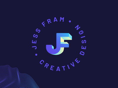 Personal Logo/Branding gradient initials monogram depth dimension 3d isometric illustration impossible shape branding logo