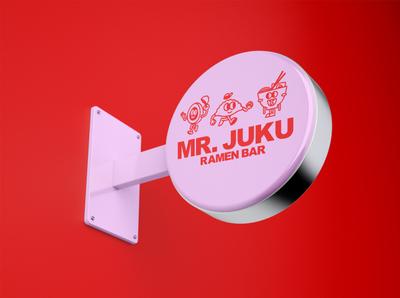 juku signage typography signage minimal illustrator branding logo illustration design