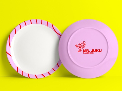 Mr. Juku Plate flat illustrator plate design minimal illustration branding logo design