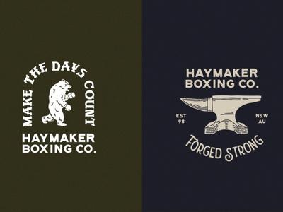 Haymaker Boxing Co. Logo Set 1 badge design boxing branding illustrator branding logo illustration design