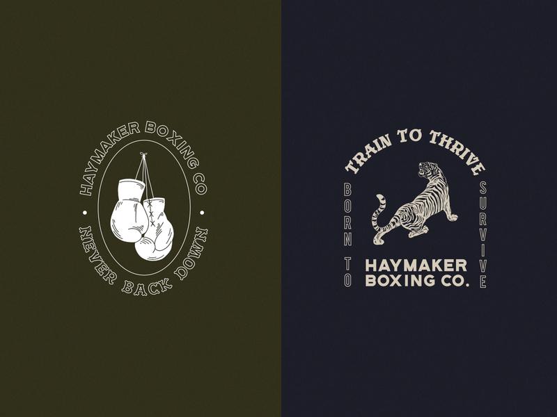 Haymaker Boxing Co. Logo Set 2 boxing branding illustrator branding logo illustration design