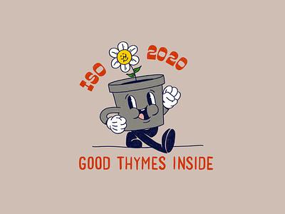 Good Thymes Inside badge design quarantine covid19 covid character design illustrator logo design illustration
