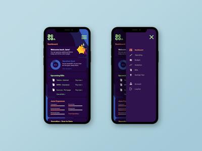 Acco - Financial Management Dashboard clean sketch ux ui illustrator design money management dashboard design application design app design