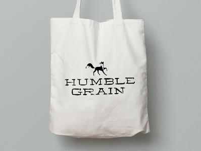 Humble Grain Tote natural branding organic food branding packaging fox typography hand generated minimal branding illustration design