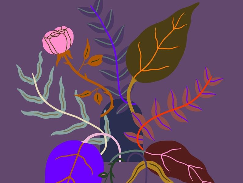 Inside Growth covid19 colorful wilderness flowers illustration digital illustration art plants illustration