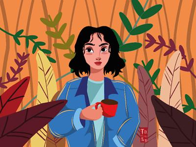 Girl illustration illustration design adobe illustrator girl illustration vector illustration graphic design digital illustration illustration