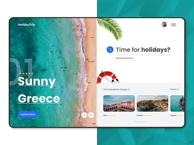 Travel blue holiday greece italy beach travelling web webui travel theme europe travel branding