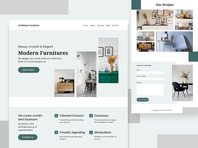 Furniture Web Ui minimal design furniture design tools design typography ux furniture web design web ui design ui design web web ui minimal furniture logo branding animation 3d ui